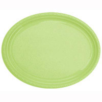 Plate Oval Heavy Duty Lime Green Pack of 25