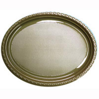 Plate Oval Heavy Duty Gold Pack of 25