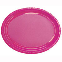 Plate Oval Heavy Duty Magenta Pack of 25