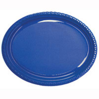 Plate Oval Heavy Duty Royal Blue Pack of 25