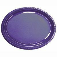 Plate Oval Heavy Duty Purple Pack of 25