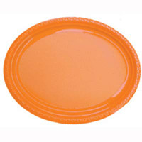 Plate Oval Heavy Duty Orange Pack of 25