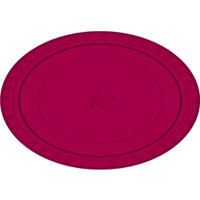 Plate Oval Heavy Duty Burgundy Pack of 25