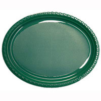 Plate Oval Heavy Duty Green Pack of 25