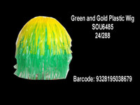 WIG GREEN GOLD PLASTIC