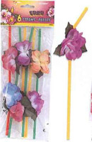 LUAU FLOWER STRAWS 6