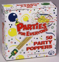 PARTY POPPERS PACK 50