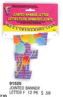 JOINTED BANNER LETTER F