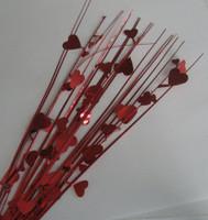 DEC.SPRAY RED HEARTS P1