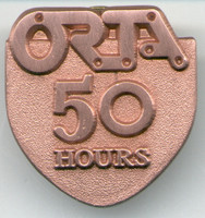 ORTA 50 HOURS VOLUNTEER PIN