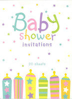 BABY SHOWER INVITATIONS 20 SHEETS