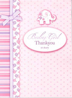 BABY GIRL THANK YOU NOTES 20 PAGES
