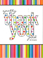 THANK YOU NOTES SPOTTY 20 SHEETS