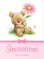 PARTY INVITATIONS TEDDY 20 SHEETS