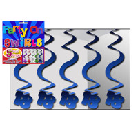 PARTY SWIRLS PK 5 BLUE 18