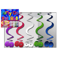 PARTY SWIRLS PK 5 SILVER 60