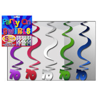 PARTY SWIRLS PK 5 SILVER 70