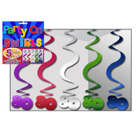 PARTY SWIRLS PK 5 SILVER 80