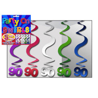 PARTY SWIRLS PK 5 SILVER 90