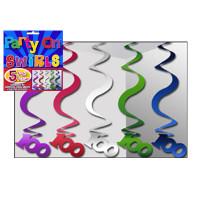PARTY SWIRLS PK 5 SILVER 100