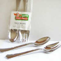 SALAD SERVER SILVER LOOK 2  PCS