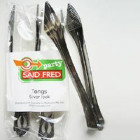 SILVER TONGS 2 PCS
