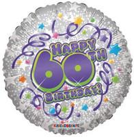 """FOILBAL.18"""" HAPPY 60TH B/DAY"""