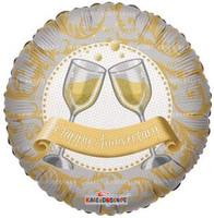 """FOILBAL.18"""" CHAMPAGNE GLASSES"""