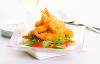 PRAWN CRUMBED CUTLET APPROX  1kg 40 PCS