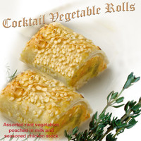 COCKTAIL VEGETABLE ROLLS 24