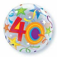 56cm Bubble 40 Brilliant Stars Bubble Balloon -