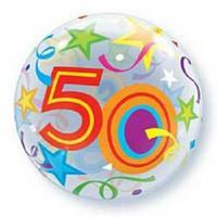 56cm Bubble 50 Brilliant Stars Bubble Balloon