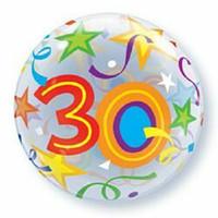 56cm Bubble 30 Brilliant Stars Bubble Balloon