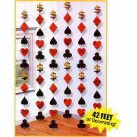 Hanging String Decoration Casino (2.1m)