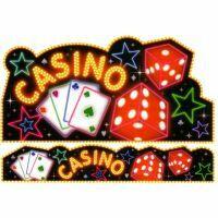 Cutout & Banner Set Casino (Cutout 49cm x 98cm, Banner 18cm x 98cm)