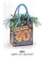 PK1 HAPPY 40TH BIRTHDAY BAG
