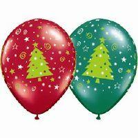 BALLOON CHRISTMAS TREES STARS AND SWIRLS