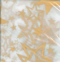 PLASTIC TABLECOVER RECTANGLE 137 X 274cm CLEAR GOLD STARS P1
