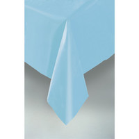 PLASTIC TABLECOVER RECTANGLE 137 X 274cm PASTEL BLUE P1