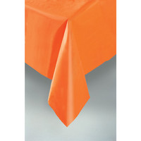 PLASTIC TABLECOVER RECTANGLE 137 X 274cm ORANGE P1