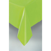 PLASTIC TABLECOVER RECTANGLE 137 X 274cm LIME P1