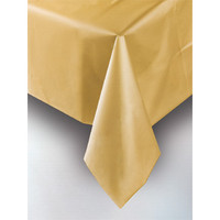 PLASTIC TABLECOVER RECTANGLE 137 X 274cm GOLD P1