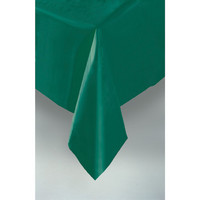 PLASTIC TABLECOVER RECTANGLE 137 X 274cm FOREST GREEN P1