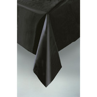 PLASTIC TABLECOVER RECTANGLE 137 X 274cm BLACK P1