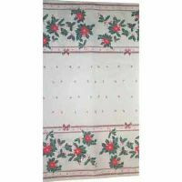 PAPER TABLECOVER 30 METRE CHRISTMAS POINSETTIA