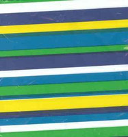 PLASTIC TABLECOVER RECTANGLE 137 X 274cm CANDY STRIPE BLUE & GREEN STRIPES  P1