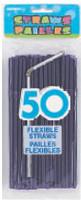 FLEXI STRAWS - DEEP PURPLE 50