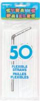 FLEXI STRAWS - BRIGHT WHITE 50
