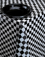 TABLECOVER RECTANGLE BLACK & WHITE CHECK