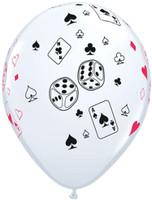 28cm Cards & Dice   Latex Balloon